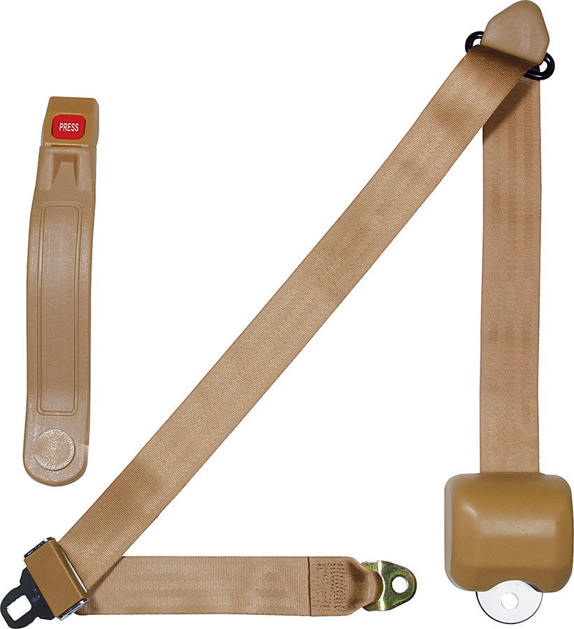 Allstar Performance Seat Belt Retractable 3pt Tan