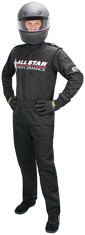 Allstar Performance Allstar Race Suit Black XL Short 1pc 2 Layer