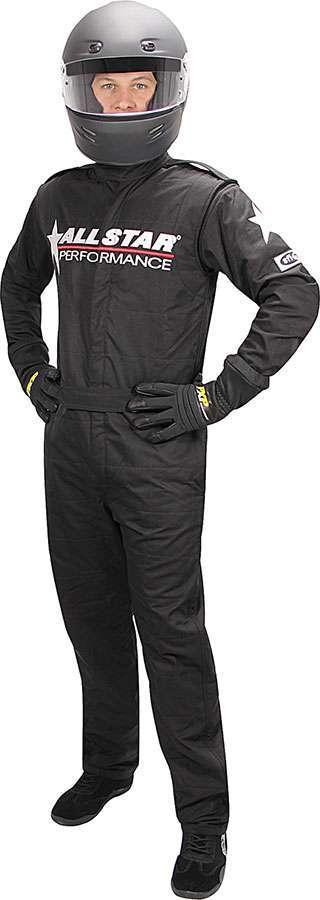Allstar Performance Allstar Race Suit Black Med 1pc 2 Layer