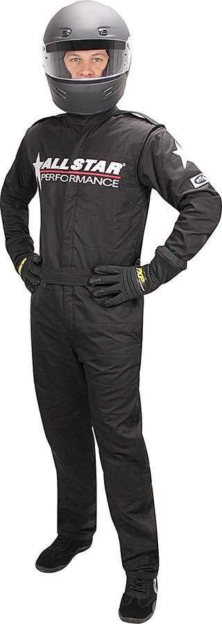 Allstar Performance Allstar Race Suit Black XL 1pc 2 Layer