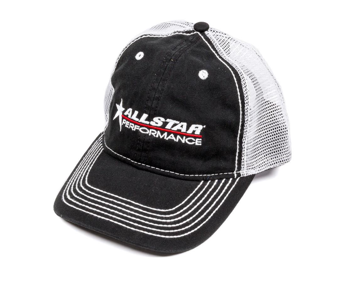 Allstar Performance Allstar Hat Black with White Mesh Velcro Closur