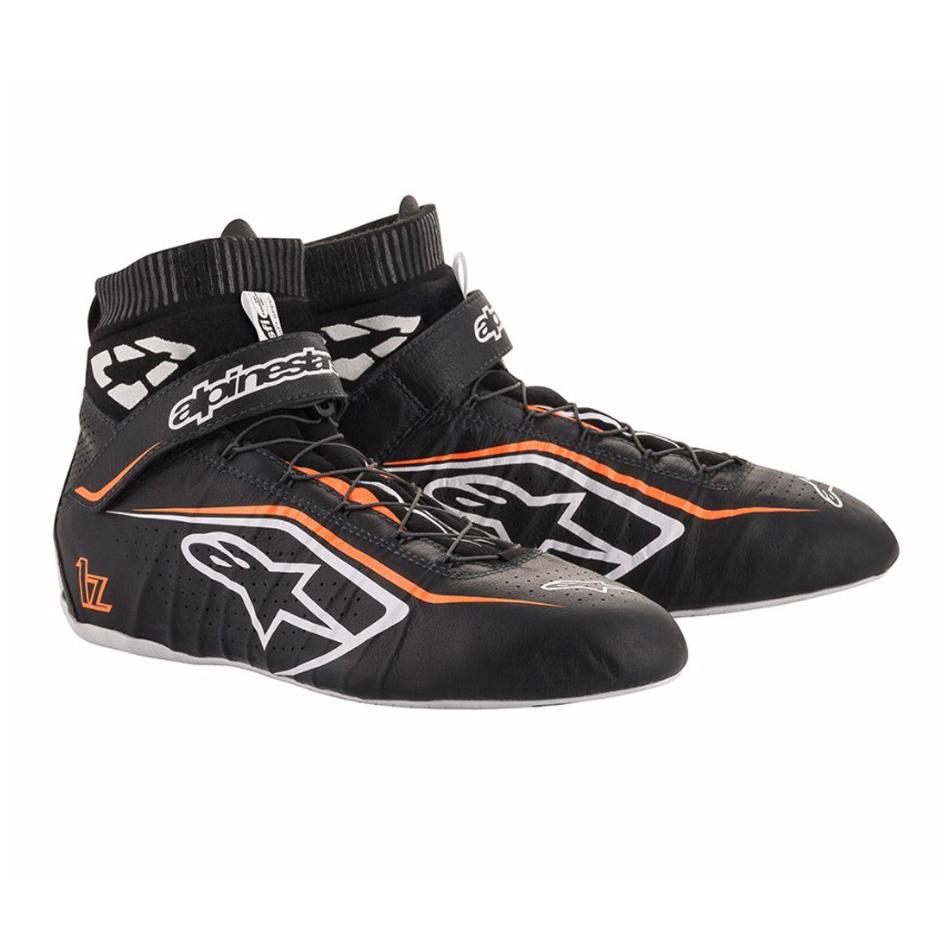 Alpinestars Usa Tech 1-Z Shoe Size 8 Black / Fluo Orange