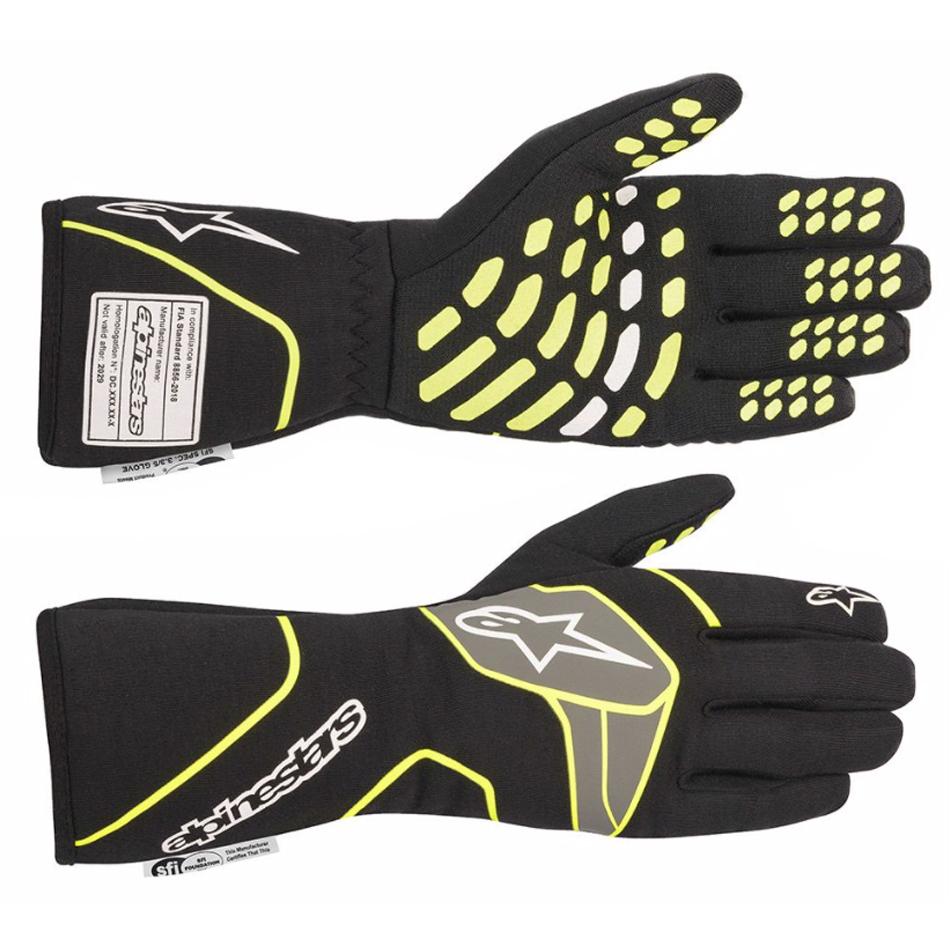 Alpinestars Usa Tech-1 Race Glove XX- Large Black / Yellow Flu