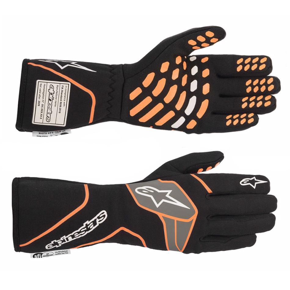 Alpinestars Usa Tech-1 Race Glove Small Black / Orange Fluo