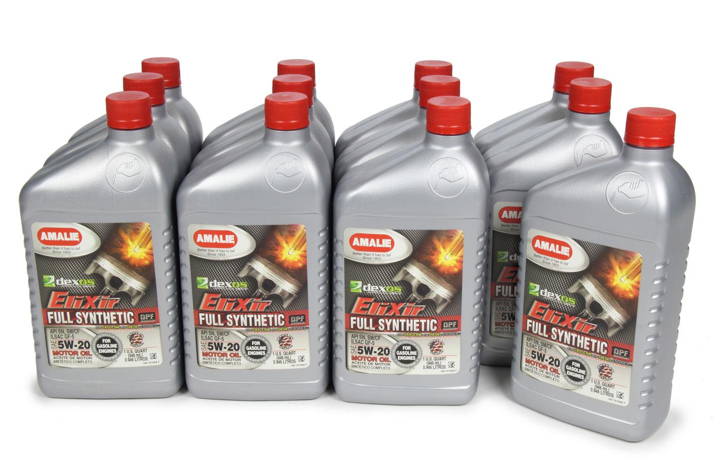 Amalie Elixir Full Synthetic 5w20 Dexos1 Case 12x1 Qt