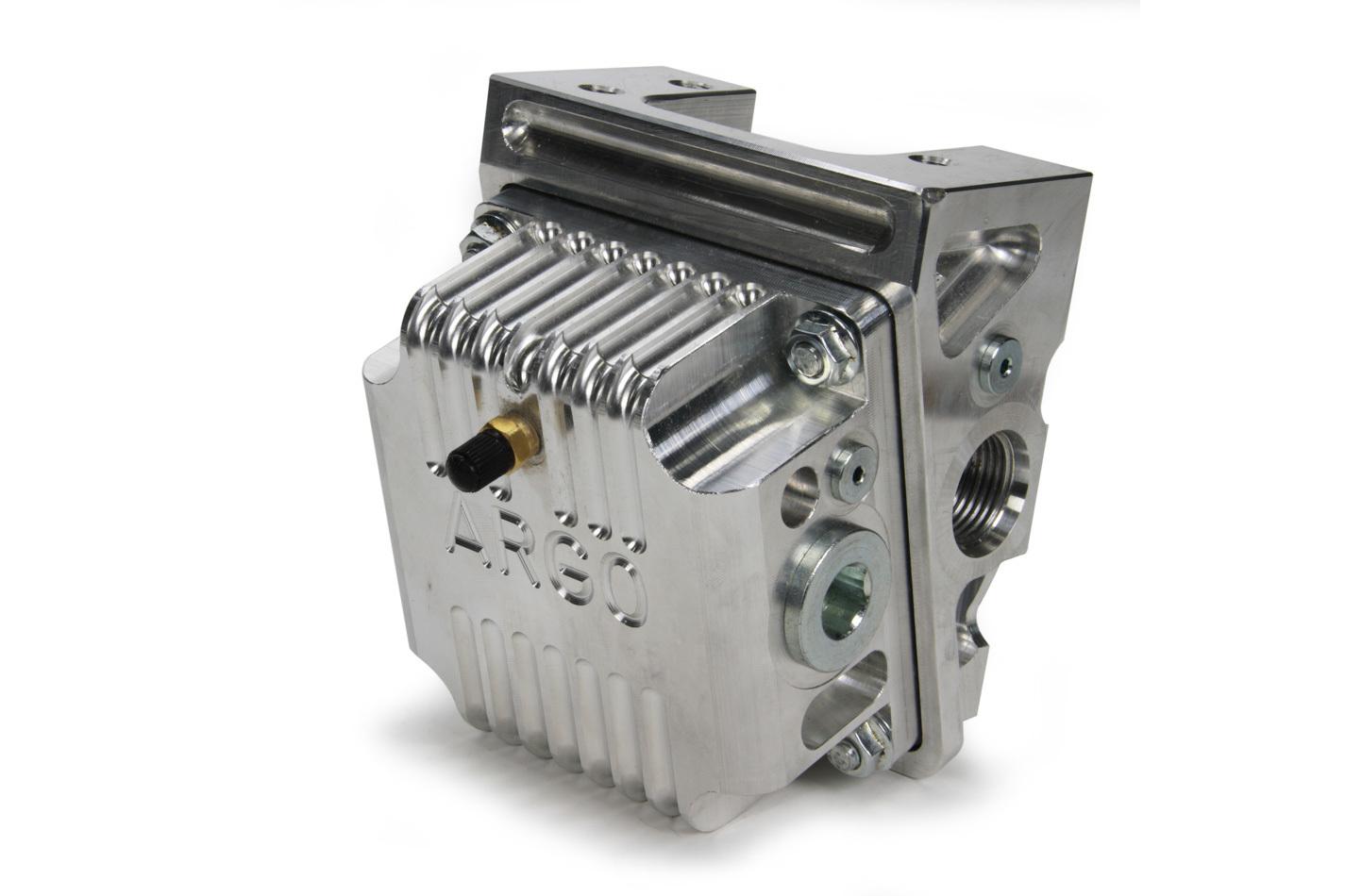 Argo Manufacturing Billet Remote Filter Mnt w/ Screen