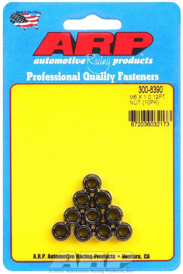 Arp 6mm x 1.00 12pt. Nuts (10)