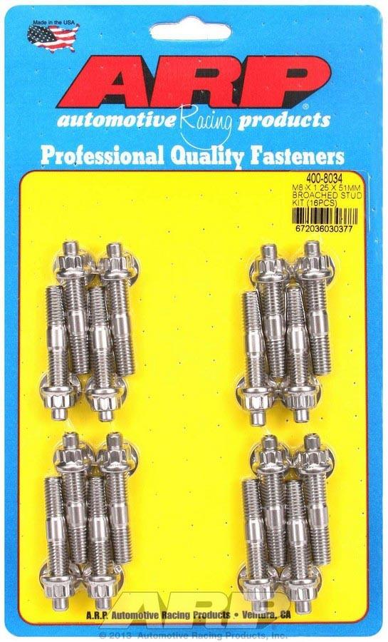Arp S/S Stud & Nut Kit (16) 8mm x 1.25in x  51mm