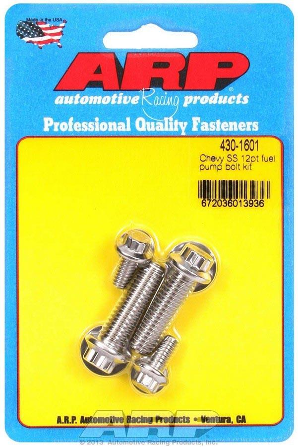 Arp S/S Chevy Fuel Pump Bolt Kit 12pt.