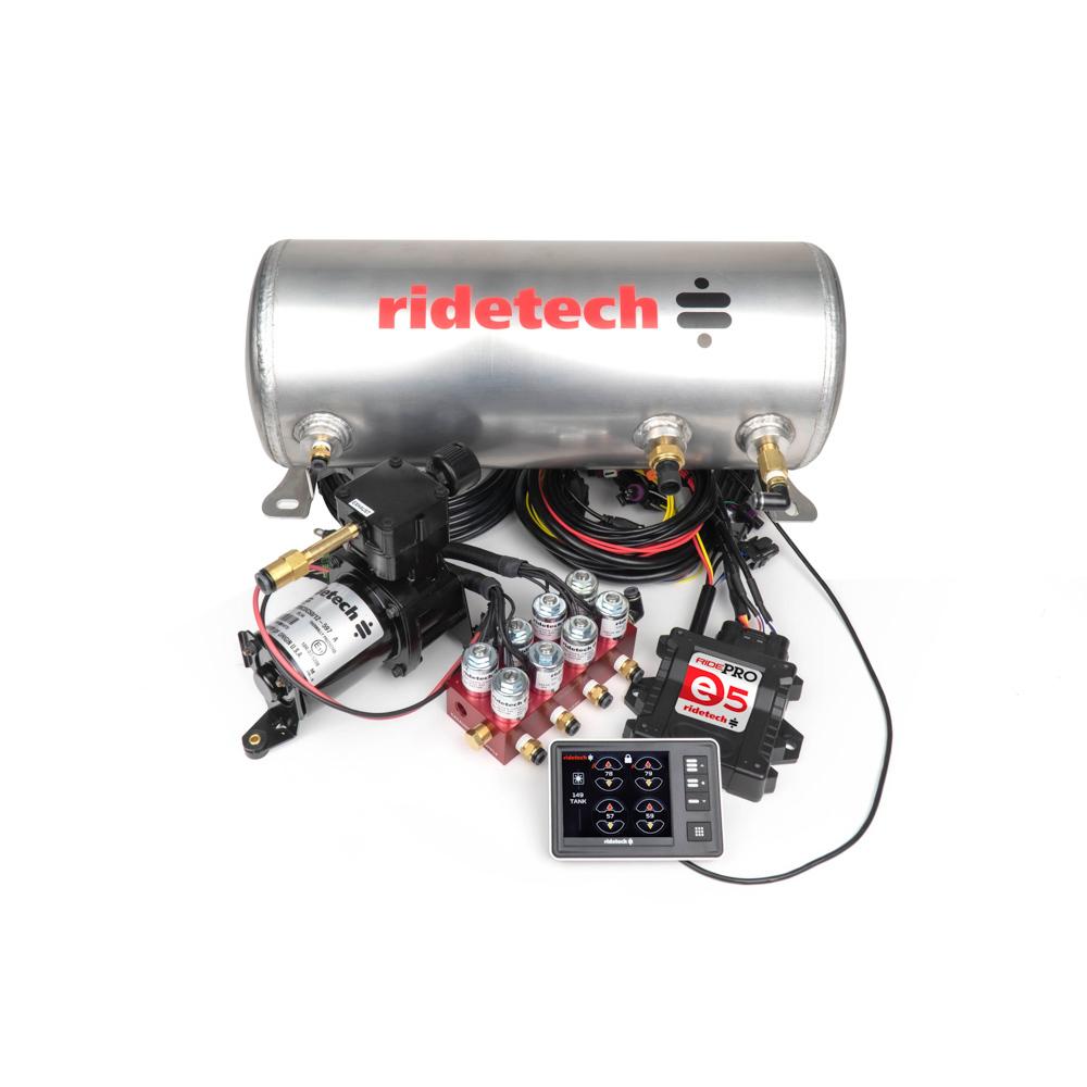 Ridetech RidePro E5 3 Gallon Sing le Compressor 1/4in Valv