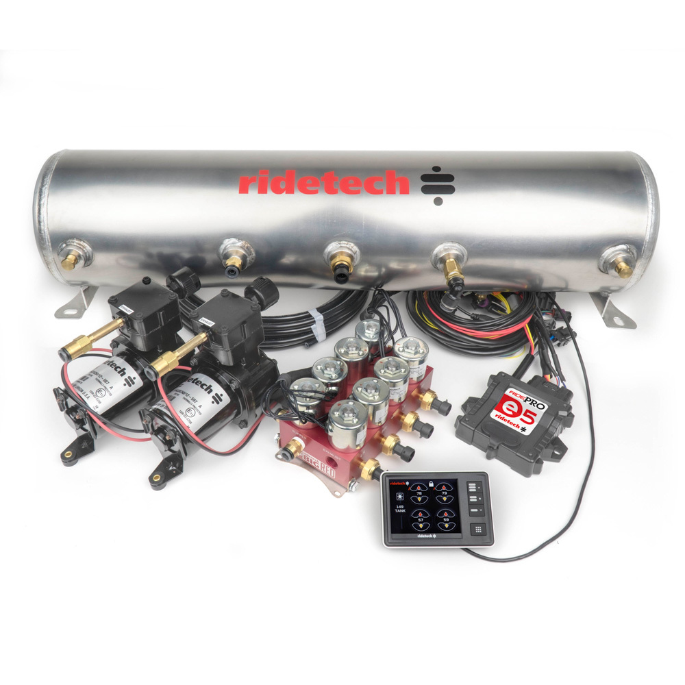 Ridetech RidePro E5 5 Gallon Dual Compressor 3/8in Valves