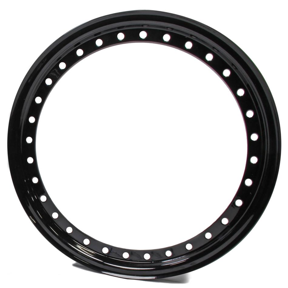 Aero Race Wheels 15in Outer Bead Lock Ring Black
