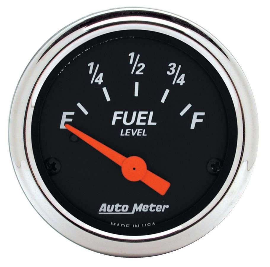 Autometer 2-1/16 D/B Fuel Level Gauge 0-90 Ohms