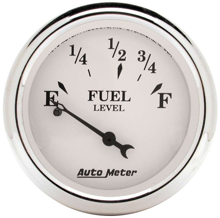 Autometer Old Tyme White 2 1/16in Fuel Pre 65 GM