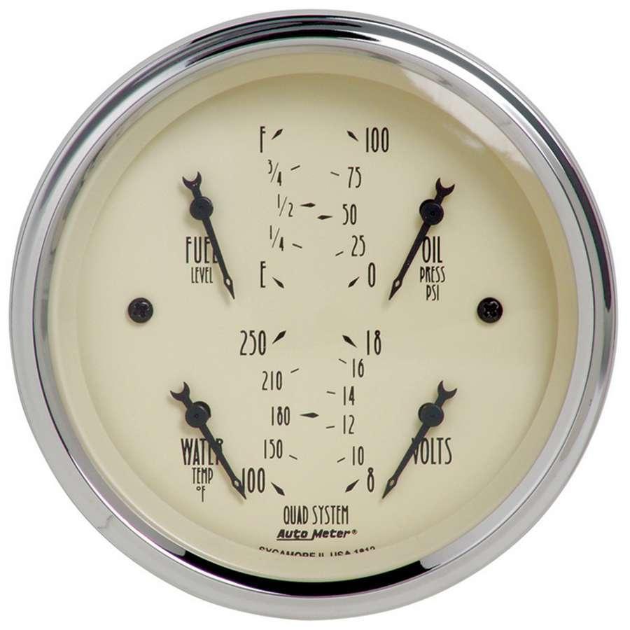 Autometer 3-3/8in A/B Quad Gauge