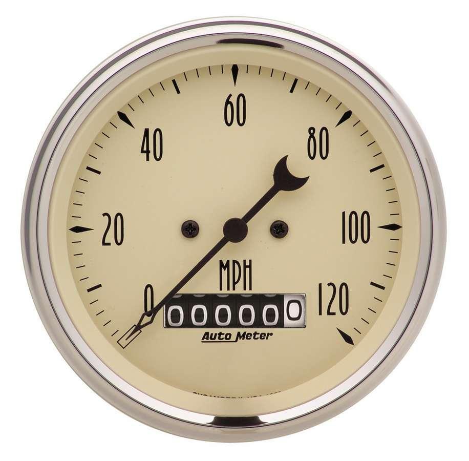 Autometer Gauge Speedo. 3 3/8in 12 0mph Elec. Prog. w/ Whee
