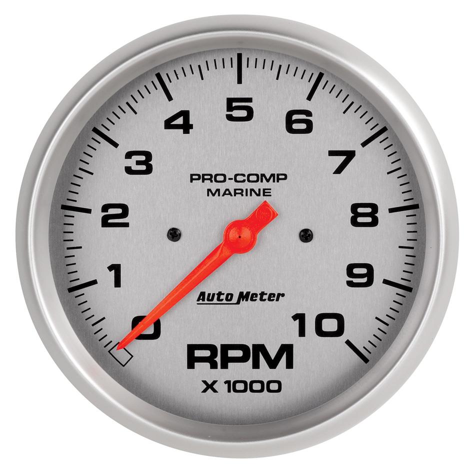 Autometer 5in U/L Tachometer Gauge 10000 RPM Silver