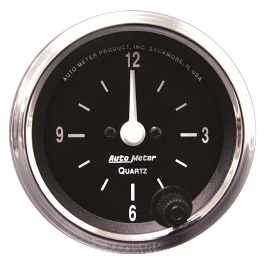 Autometer 2-1/16 12-Volt Electric Clock - Black