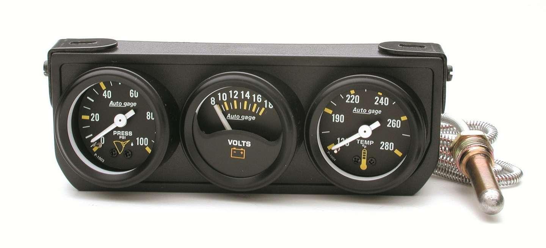 Autometer 1-1/2in Blk Mech Gauge Panel