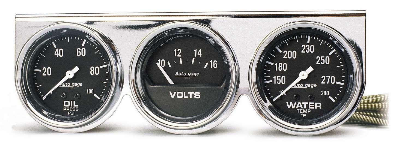 Autometer 2-5/8 Chrm Mech Gauge Pn