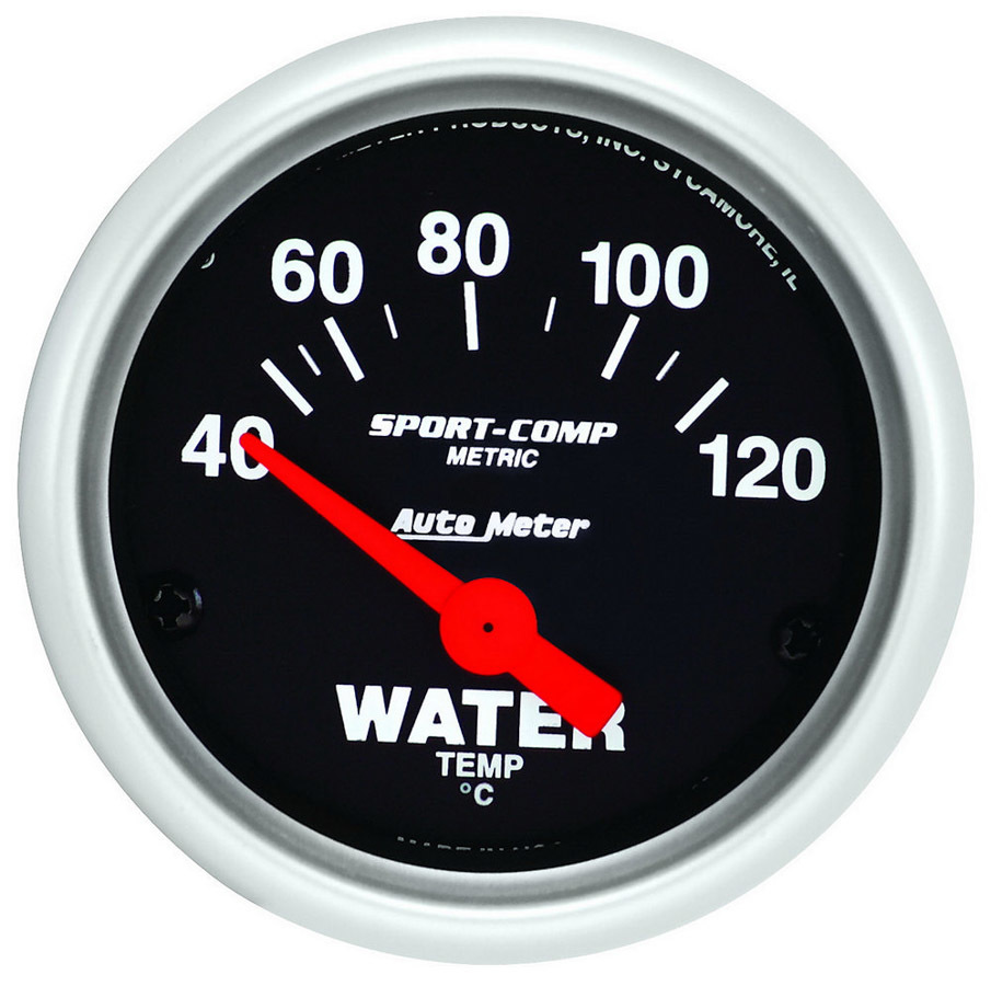 Autometer 2-1/16 Mini Sport Comp Water Temp Gauge -Metric