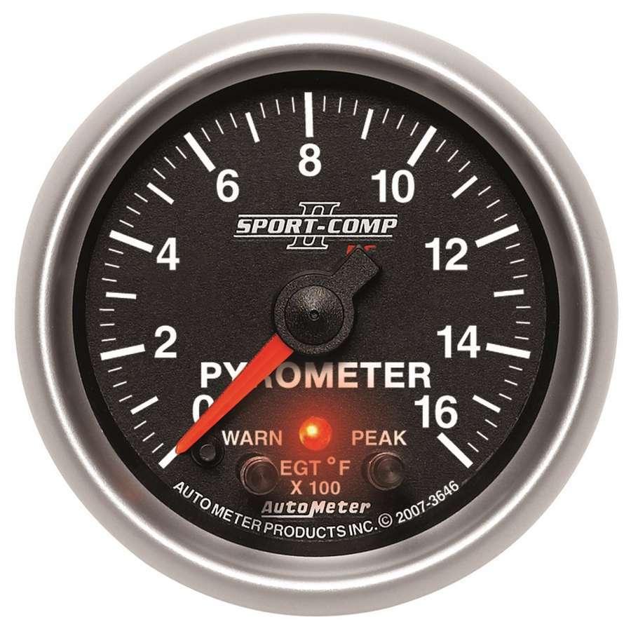 Autometer 2-1/16 S/C II Pyrometer Kit 0-1600