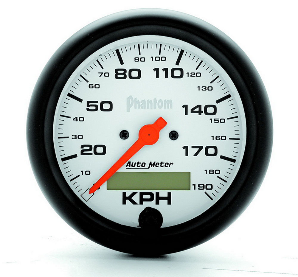 Autometer 3-3/8 Phantom Speedo - Metric 190KPH
