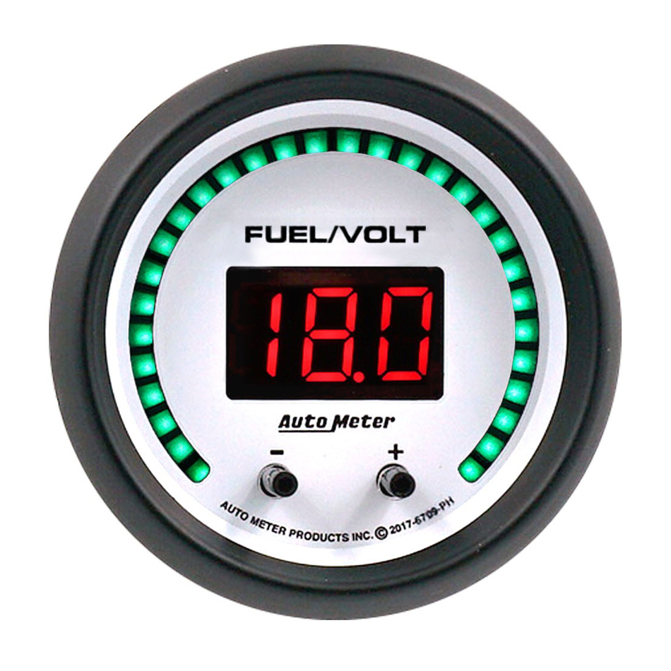 Autometer 2-1/16 Fuel/Volt Gauge Elite Digital PH Series