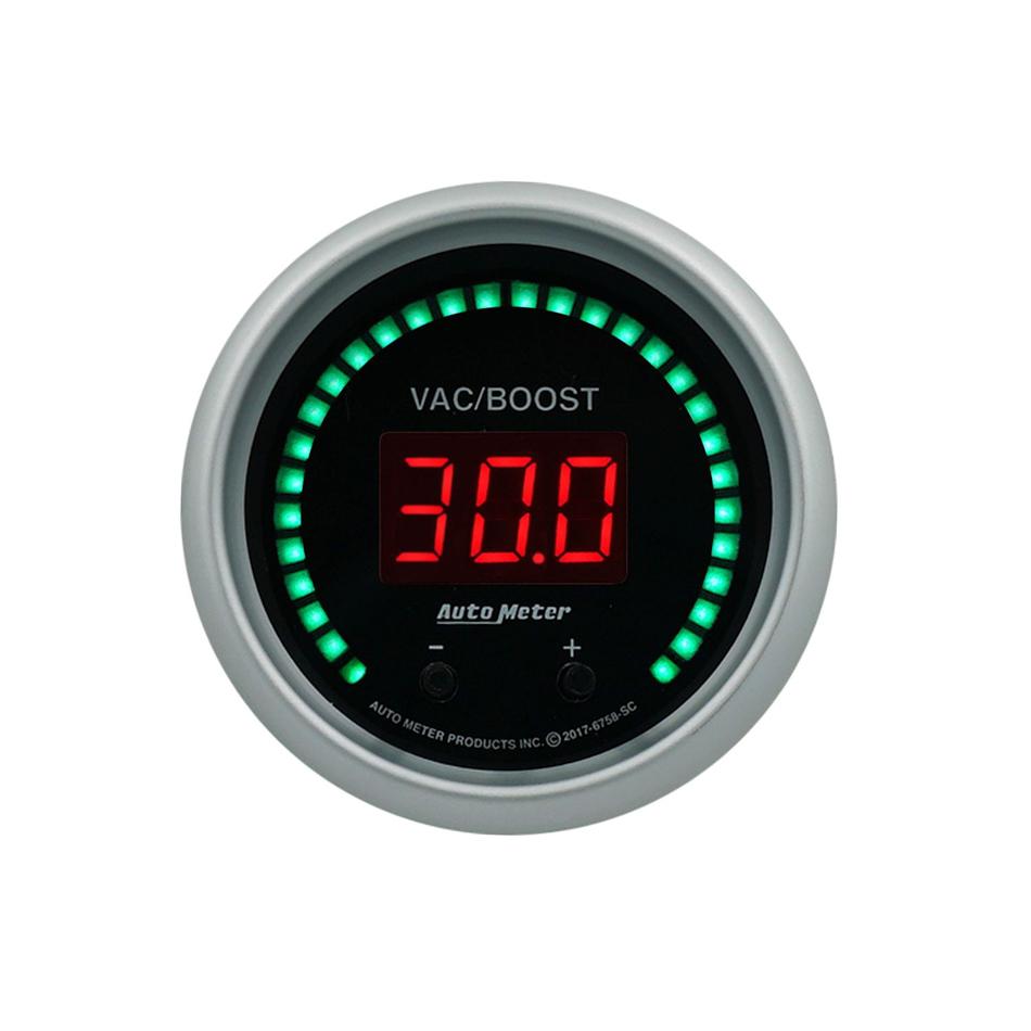 Autometer 2-1/16 Vac/Boost Gauge Elite Digital SC Series