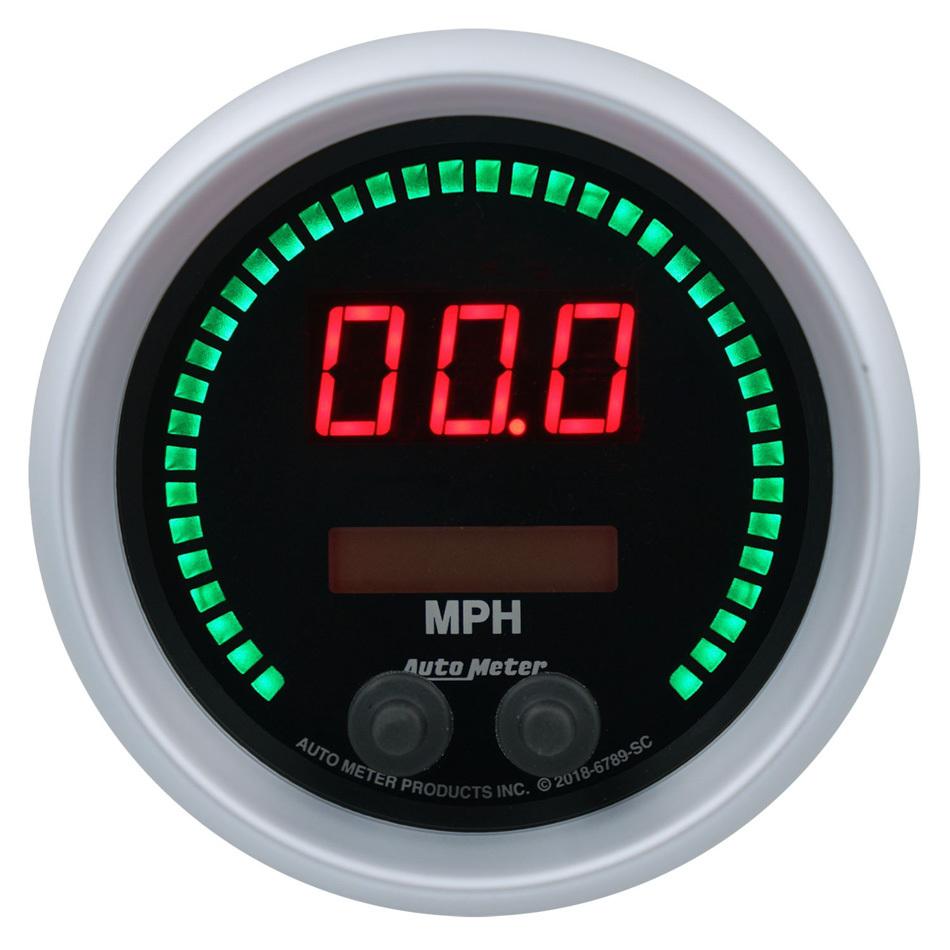Autometer 3-3/8 Speedometer 260mph Elite Digital SC Series
