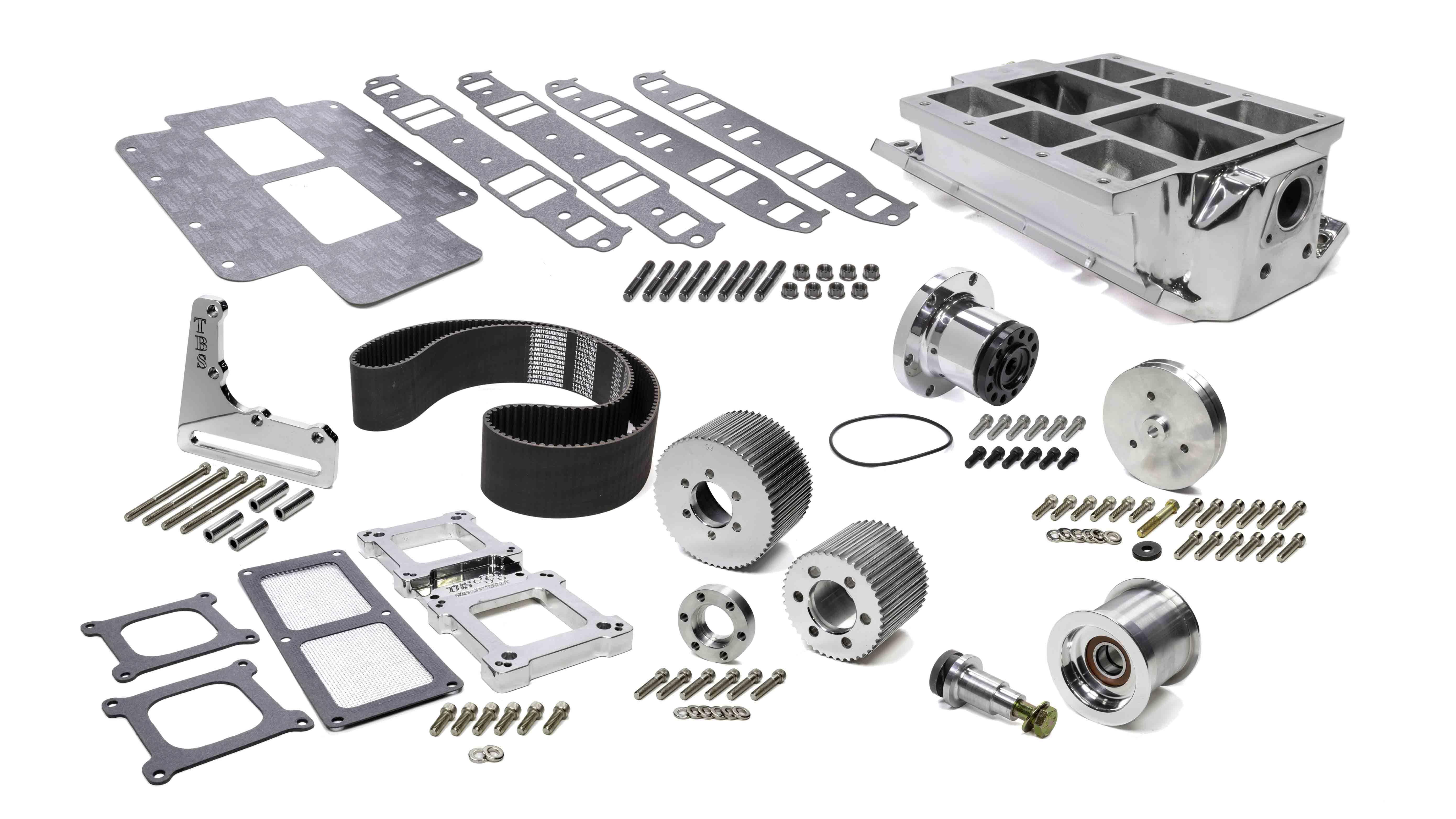 The Blower Shop SBC Intake & 671 Drive Accessory Kit 2V