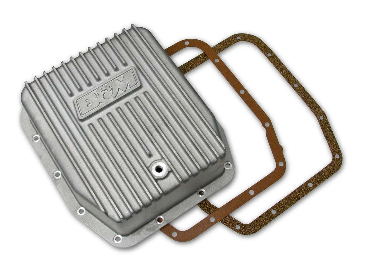 B And M Automotive Cast Alm Trans  Pan Ford AODE/4R70W - Deep Style