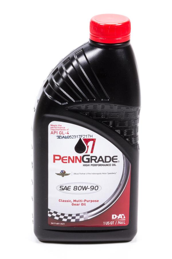 Penngrade Motor Oil 80w90 Hypoid Gear Oil 1 Qt. GL-4
