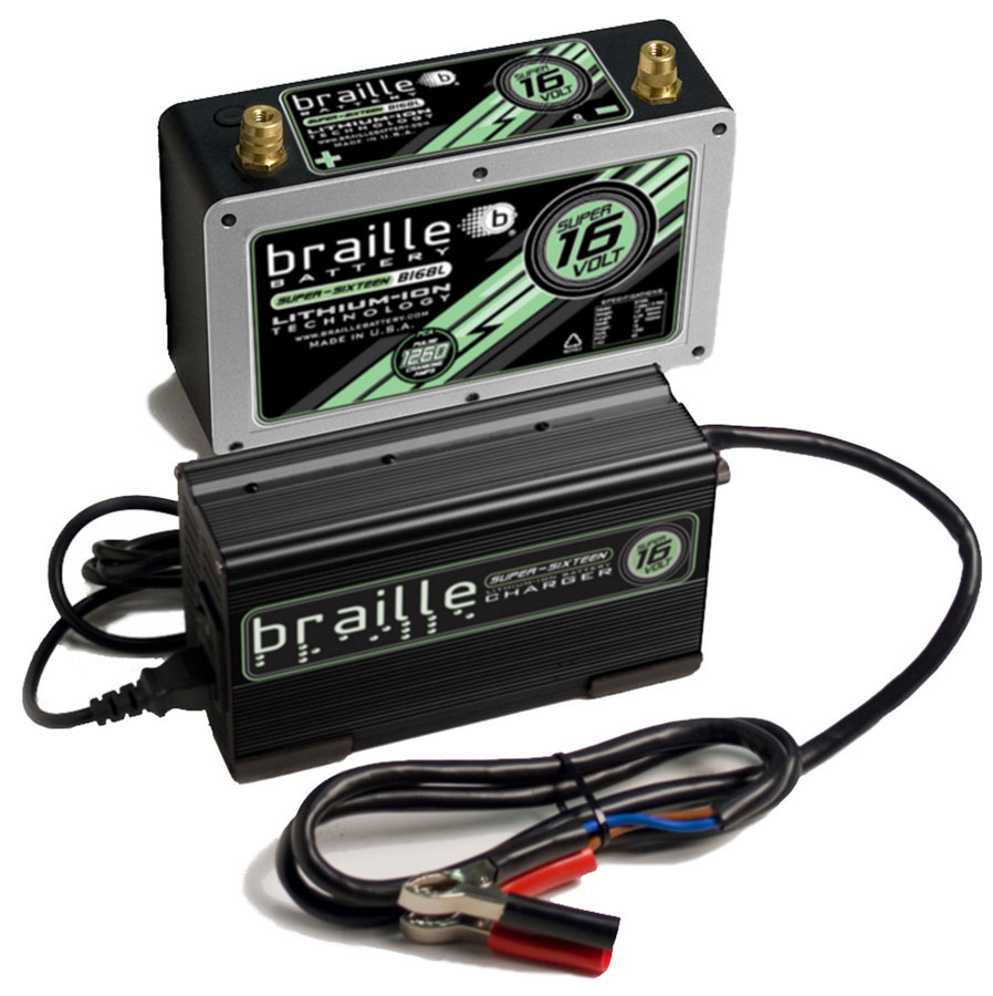 Braille Auto Battery Lithium ION Super 16 Volt Battery w/Charger