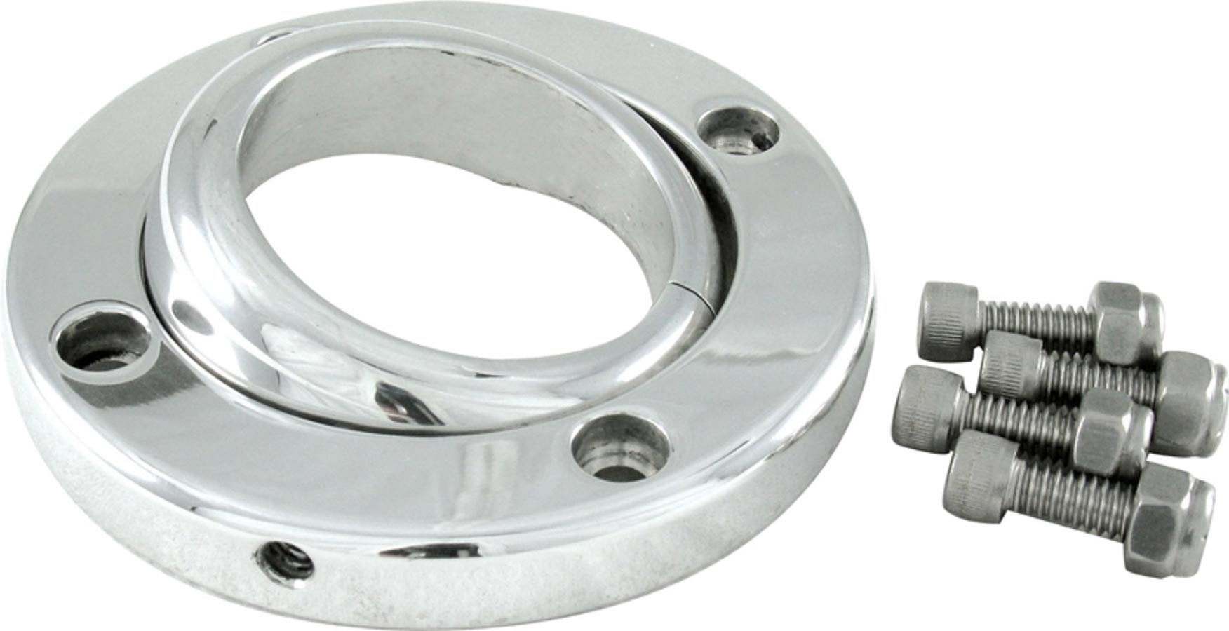 Borgeson Swivel Floor Mount For 2in Column Polished