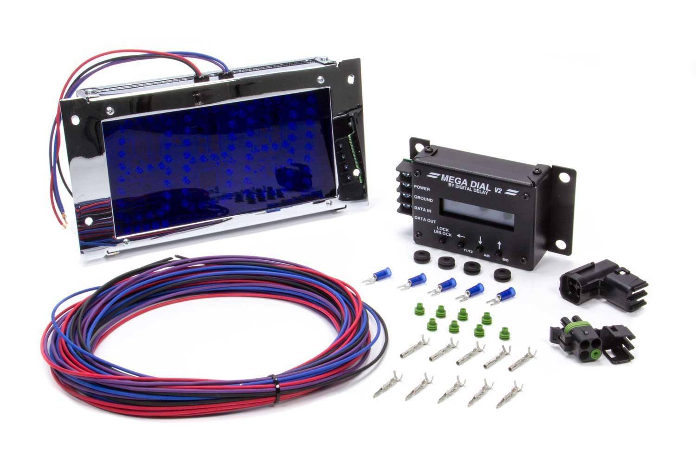 Biondo Racing Products Mega Dial Board - Chrome w/White Leds