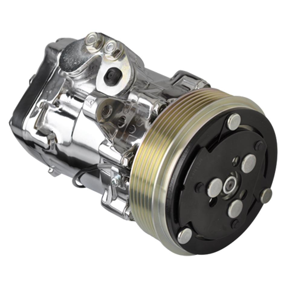 Billet Specialties A/C Compresser SD-7 Serpintine Polished