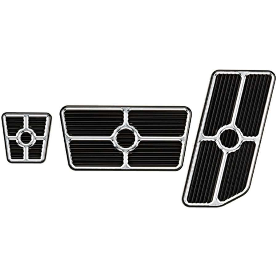Billet Specialties Universal Pedal Kits Grooved Black