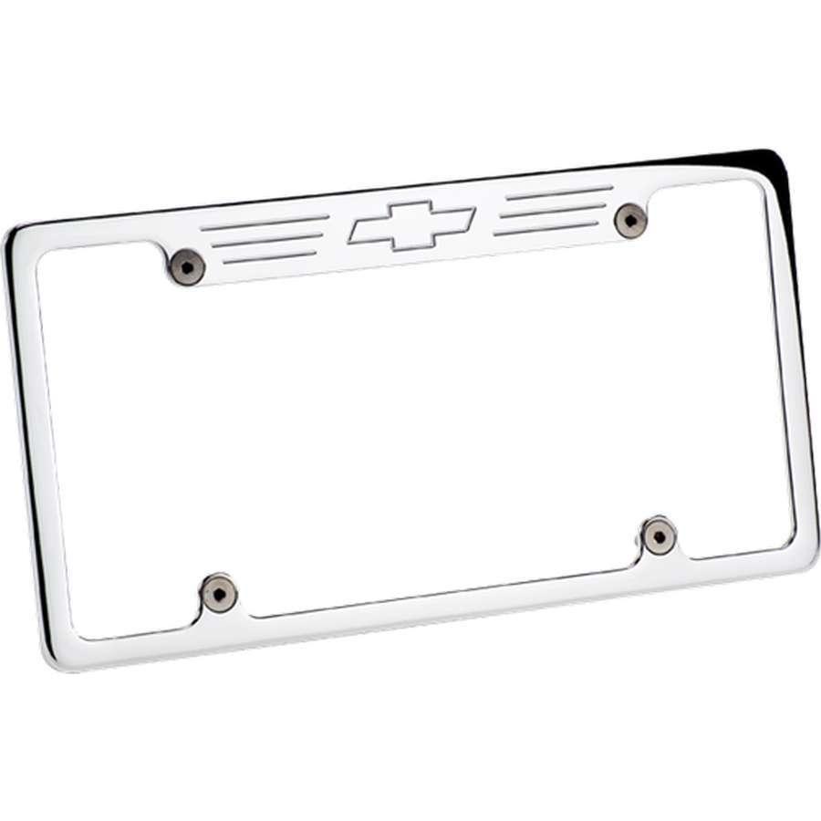 Billet Specialties License Frame Bowtie- Polished
