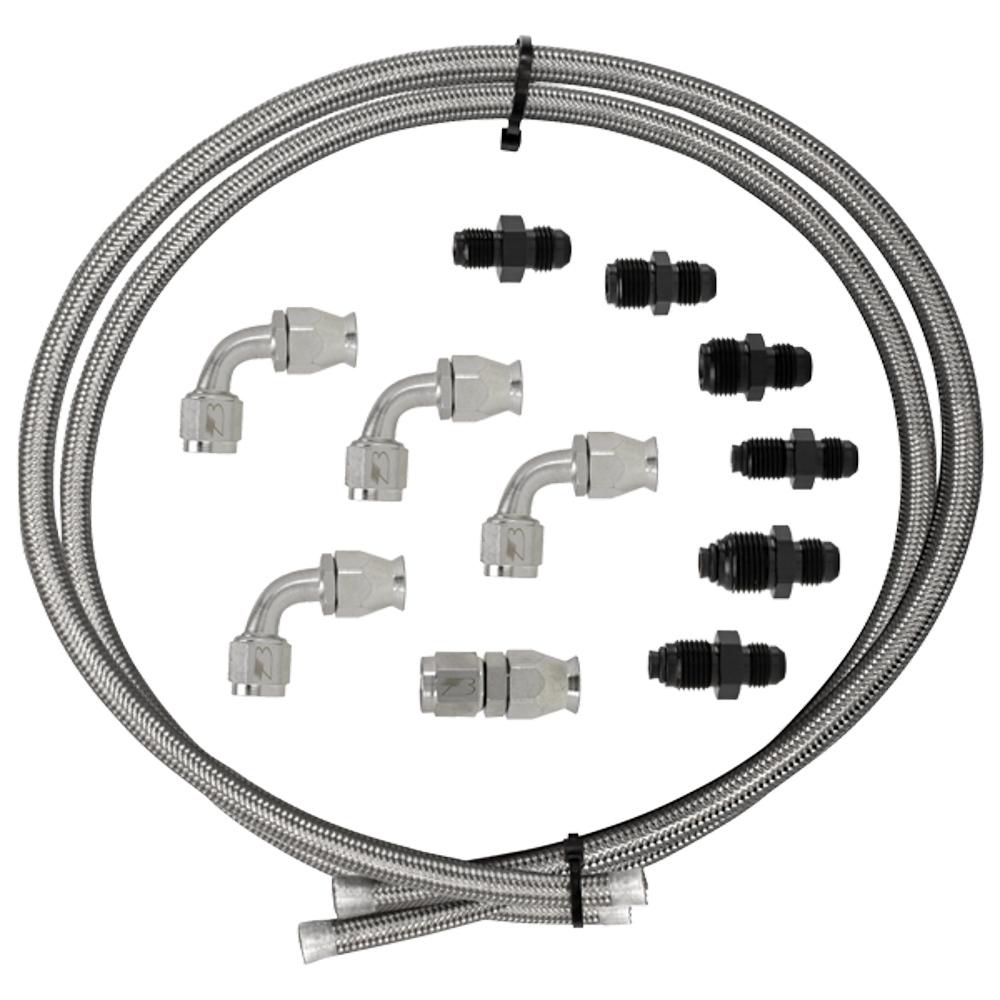 Billet Specialties Hose Kit Power Steering W/Pump Mount Resevoir
