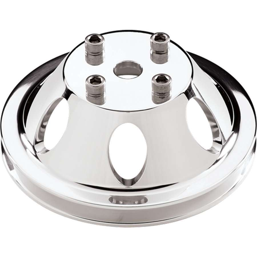 Billet Specialties SBC/BBC 1 GRV WP Pulley For LWP Polished