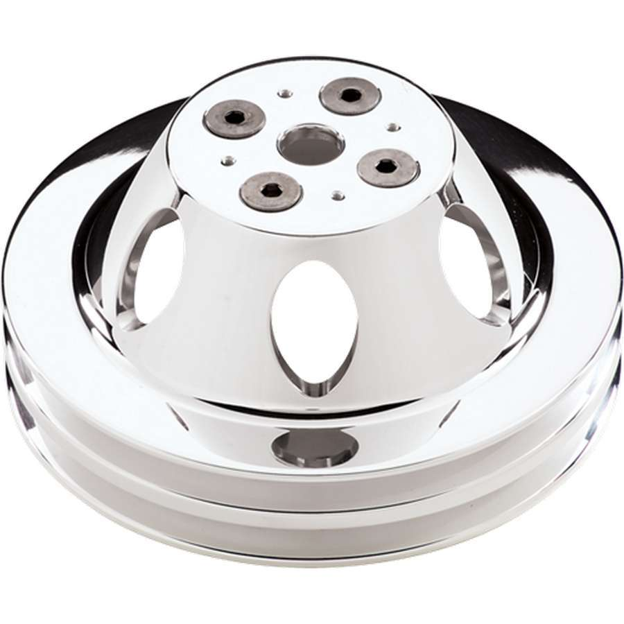 Billet Specialties Polished SBC 2 Groove Upper Pulley