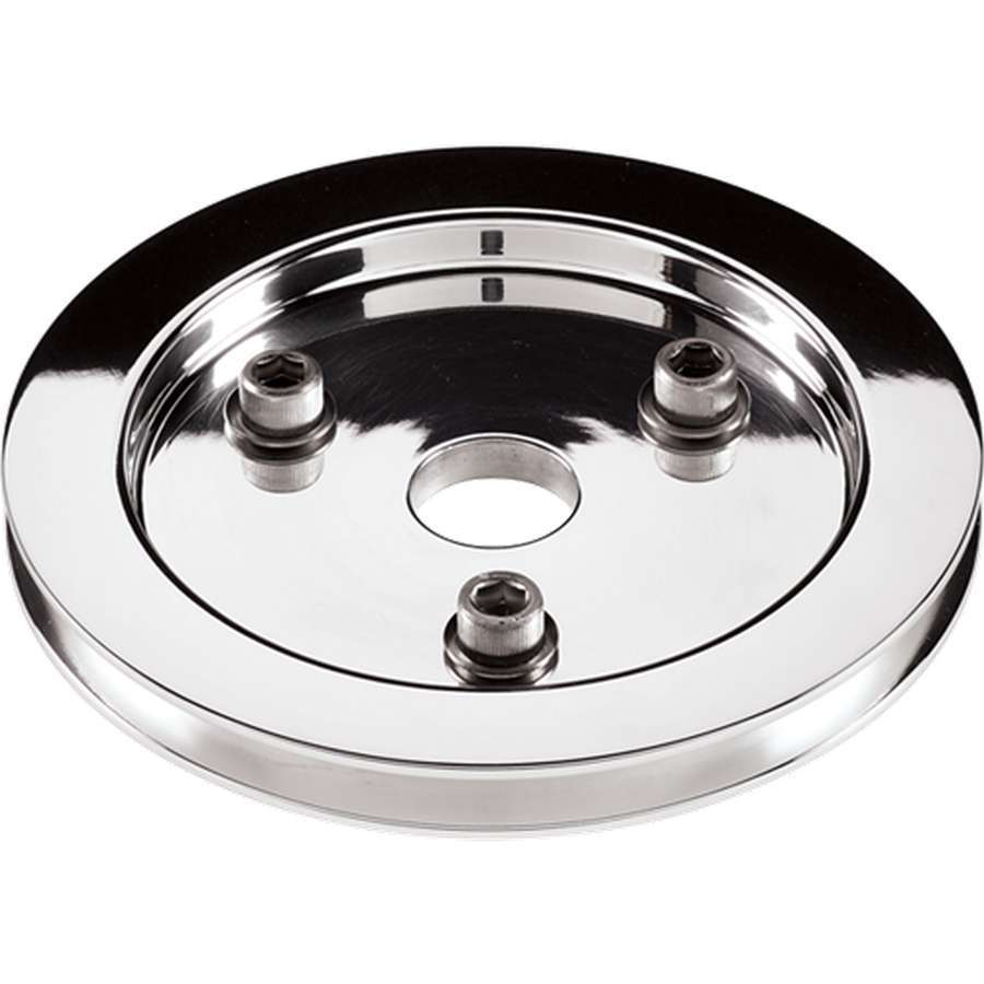 Billet Specialties Polished SBC 1 Groove Lower Pulley