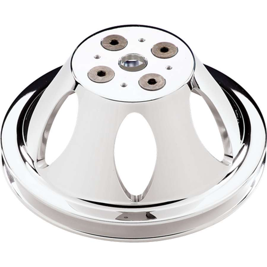 Billet Specialties Polished BBC 1 Groove Upper Pulley