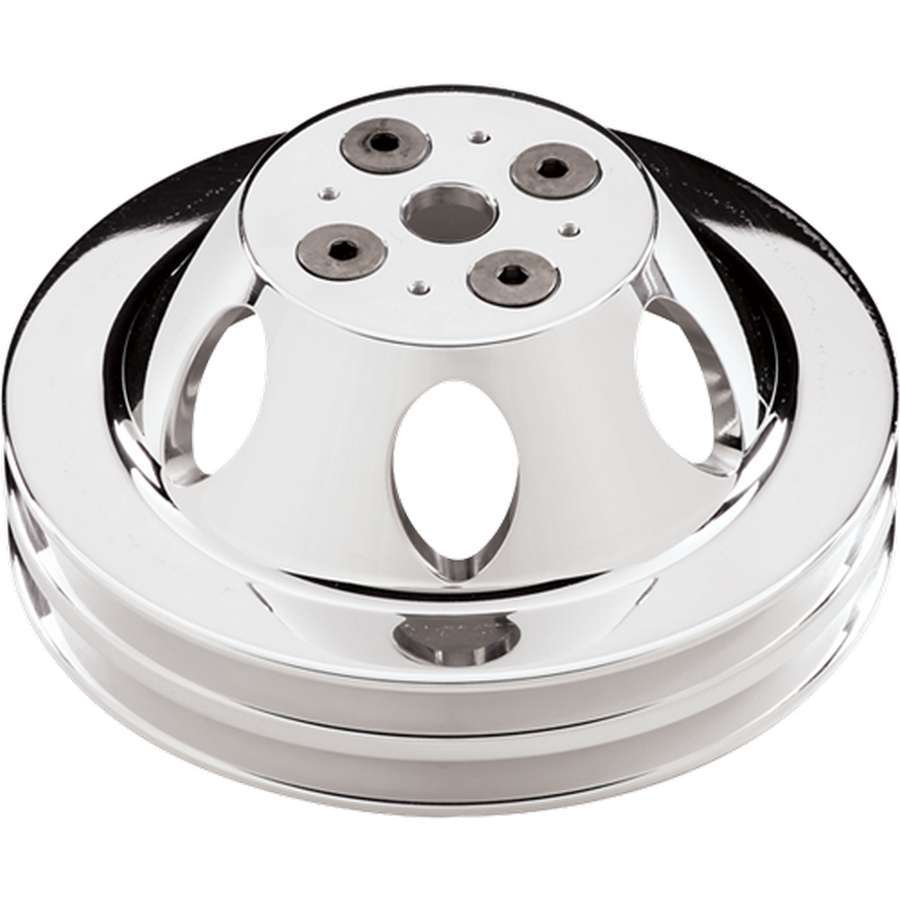 Billet Specialties Polished BBC 2 Groove Upper Pulley
