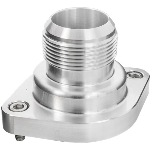 Billet Specialties LS Thermostat Housing w/ 20AN Male Nipple Anodizd