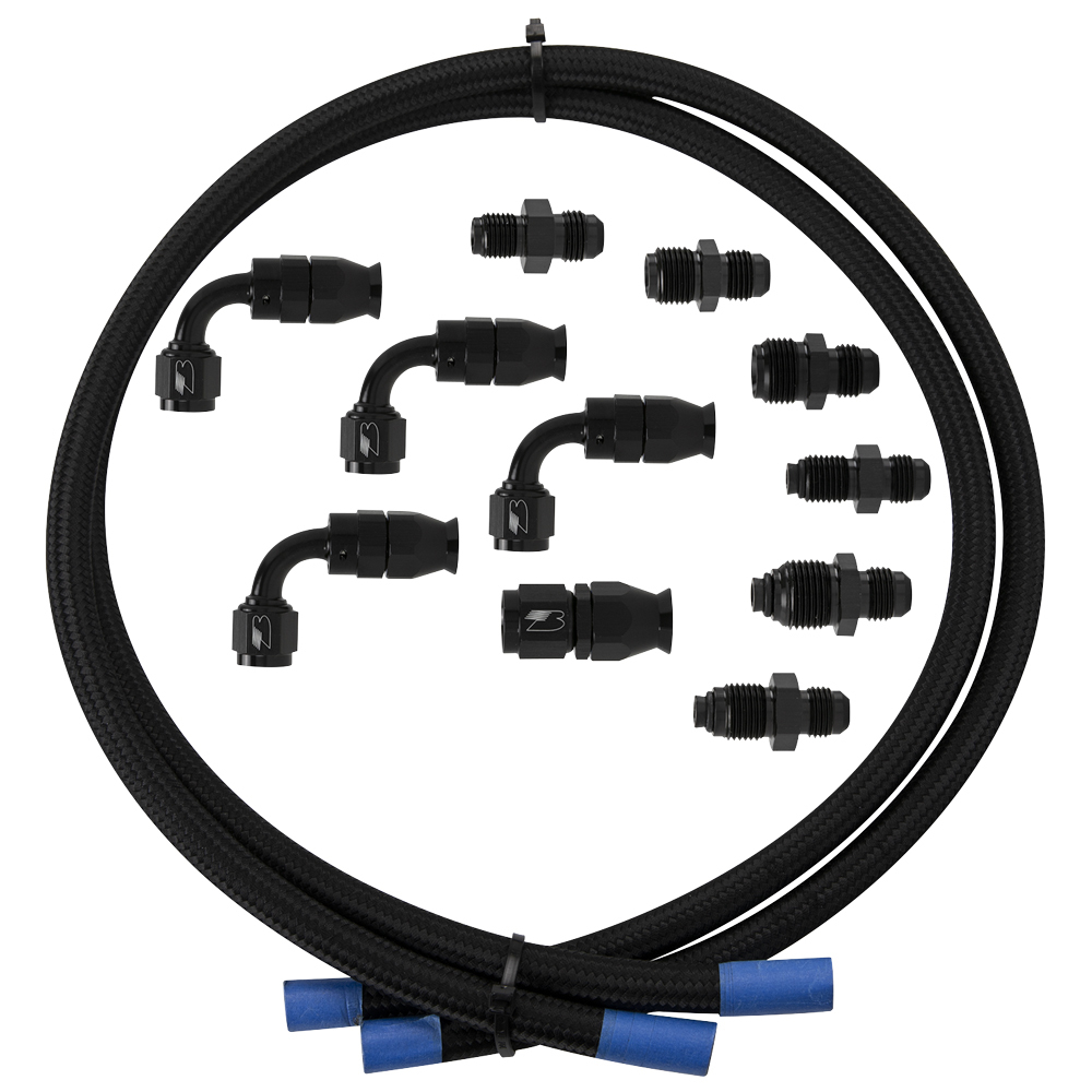Billet Specialties Hose Kit Power Steering w/Pump Mount Reservoir