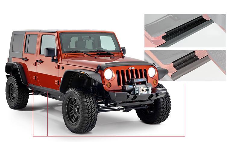 Bushwacker 18-   Jeep Wrangler JL Trail Armor Rocker Panel