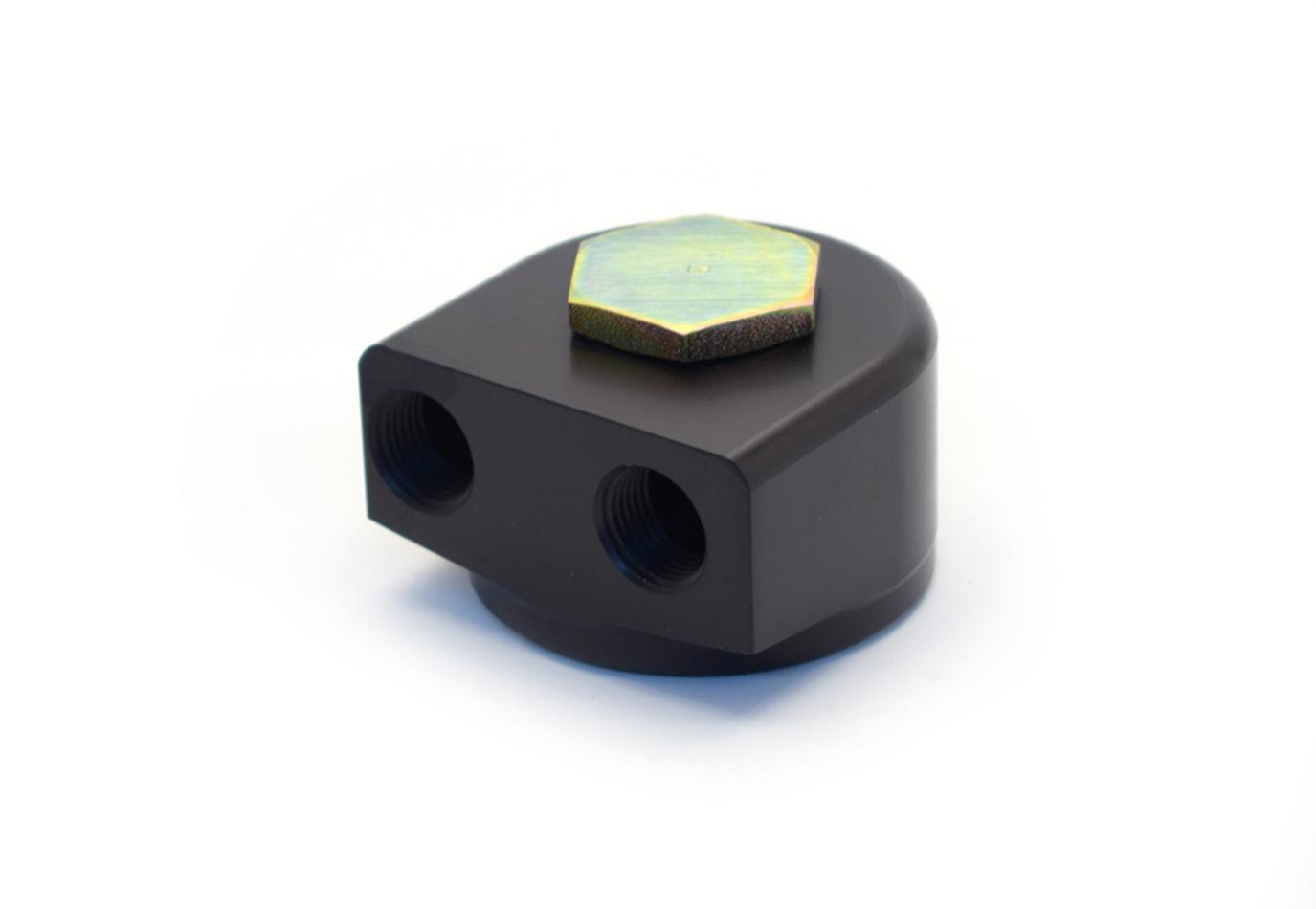 Canton 22mm 90 Deg. Oil Filter Adapter