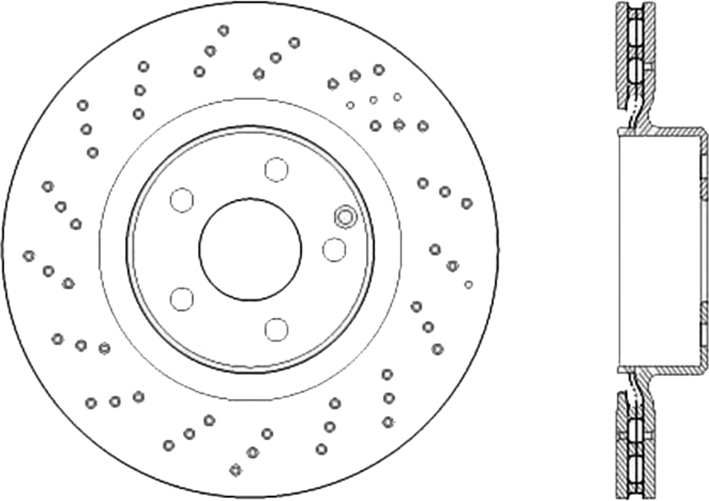 Centric Brake Parts Premium OE Design Drille d Brake Rotor